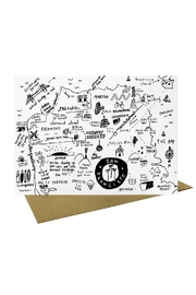 People I've Loved San Francisco Map Greeting Card - Product Mini Image