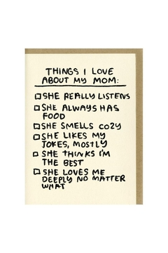 People I've Loved Things I Love About My Mom Greeting Card - Alternate List Image