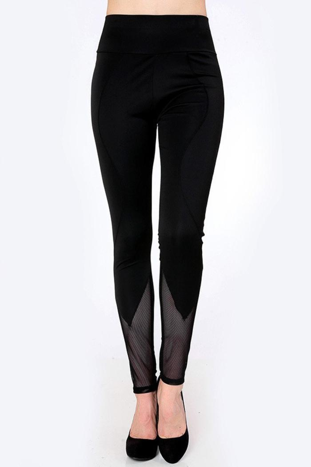 People Outfitter 80's Mesh Leggings - Back Cropped Image