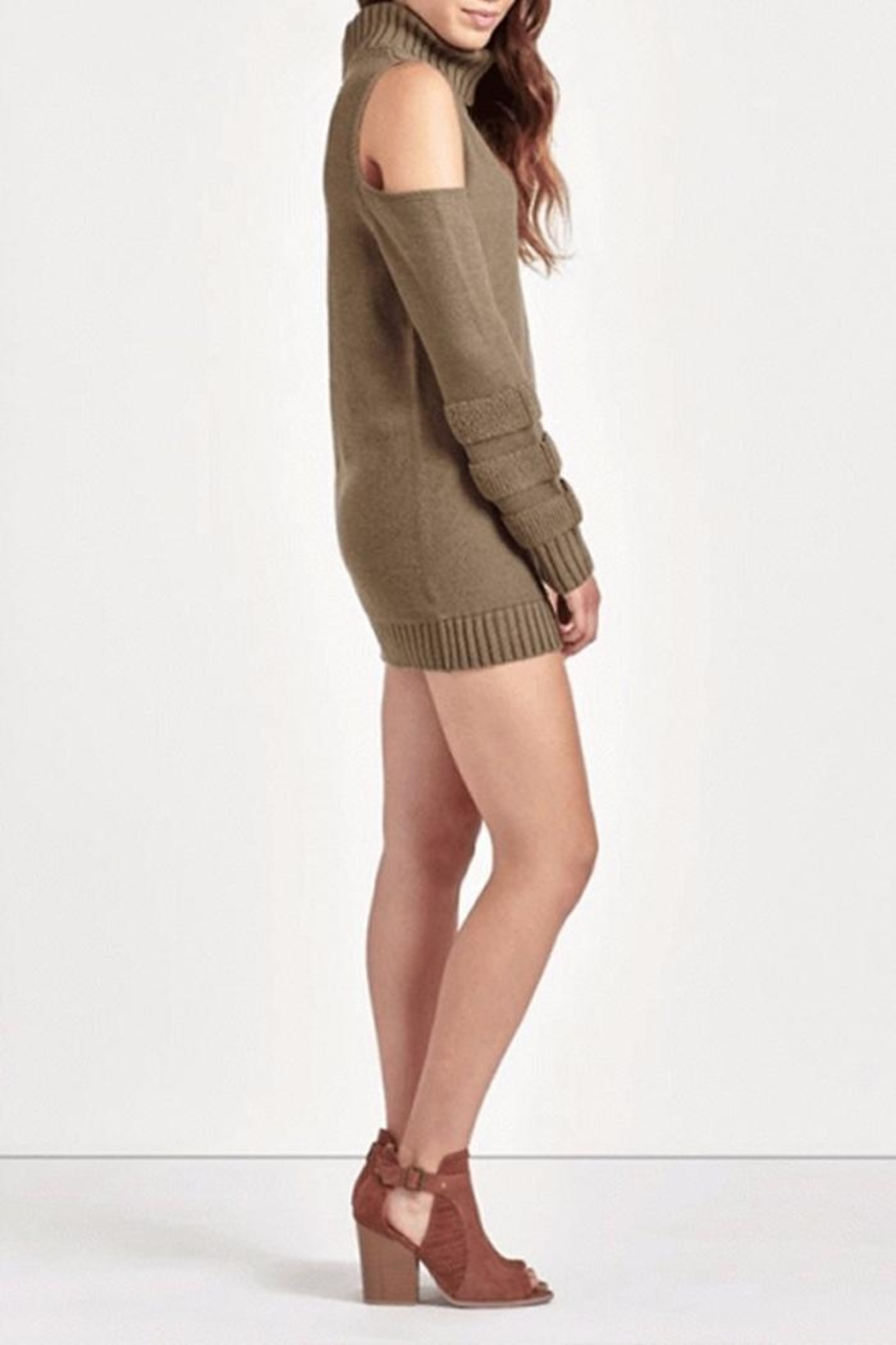 People Outfitter Ailis Tunic Sweater - Side Cropped Image