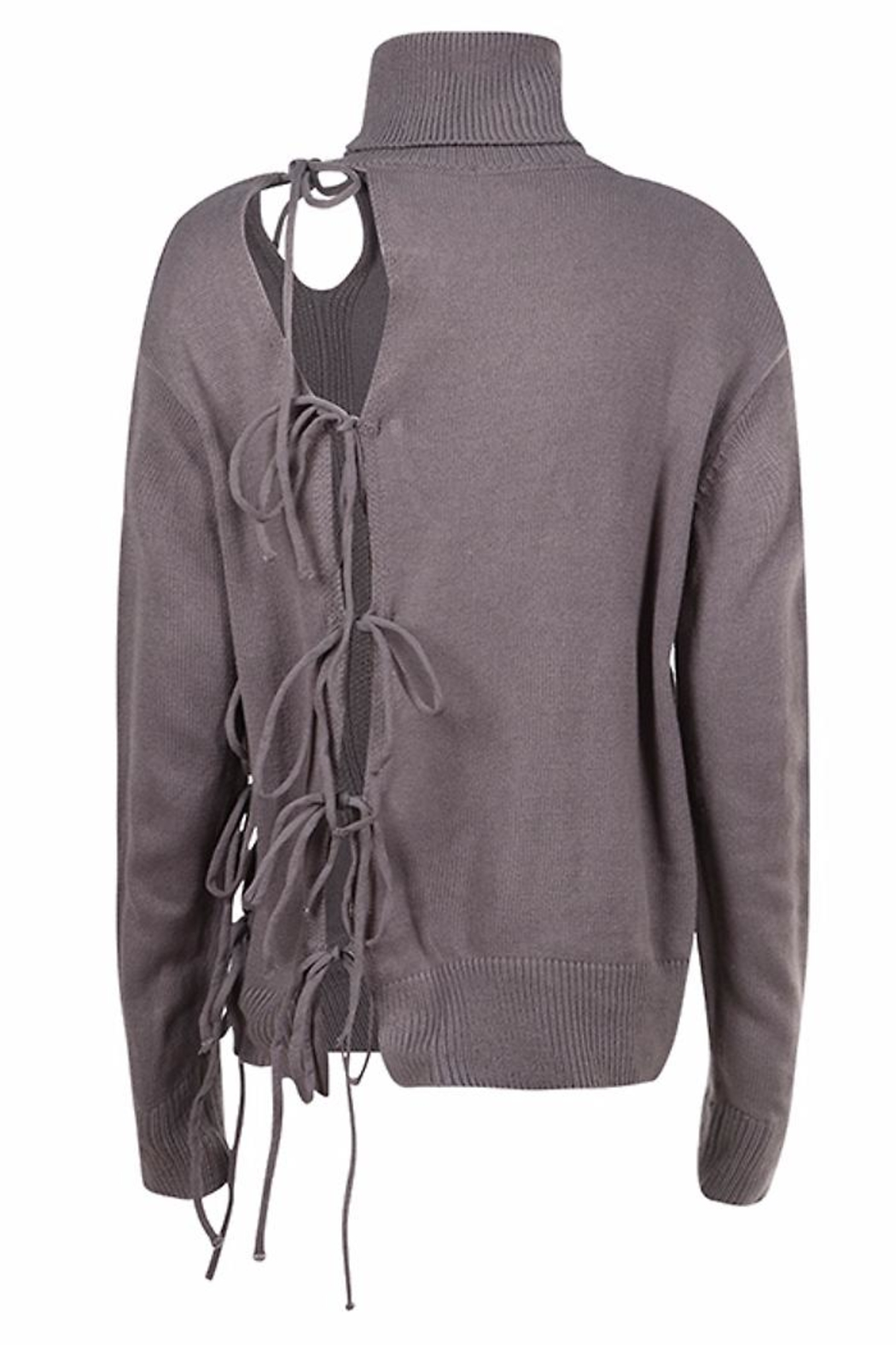 People Outfitter Alice Lace-Up Sweater - Side Cropped Image