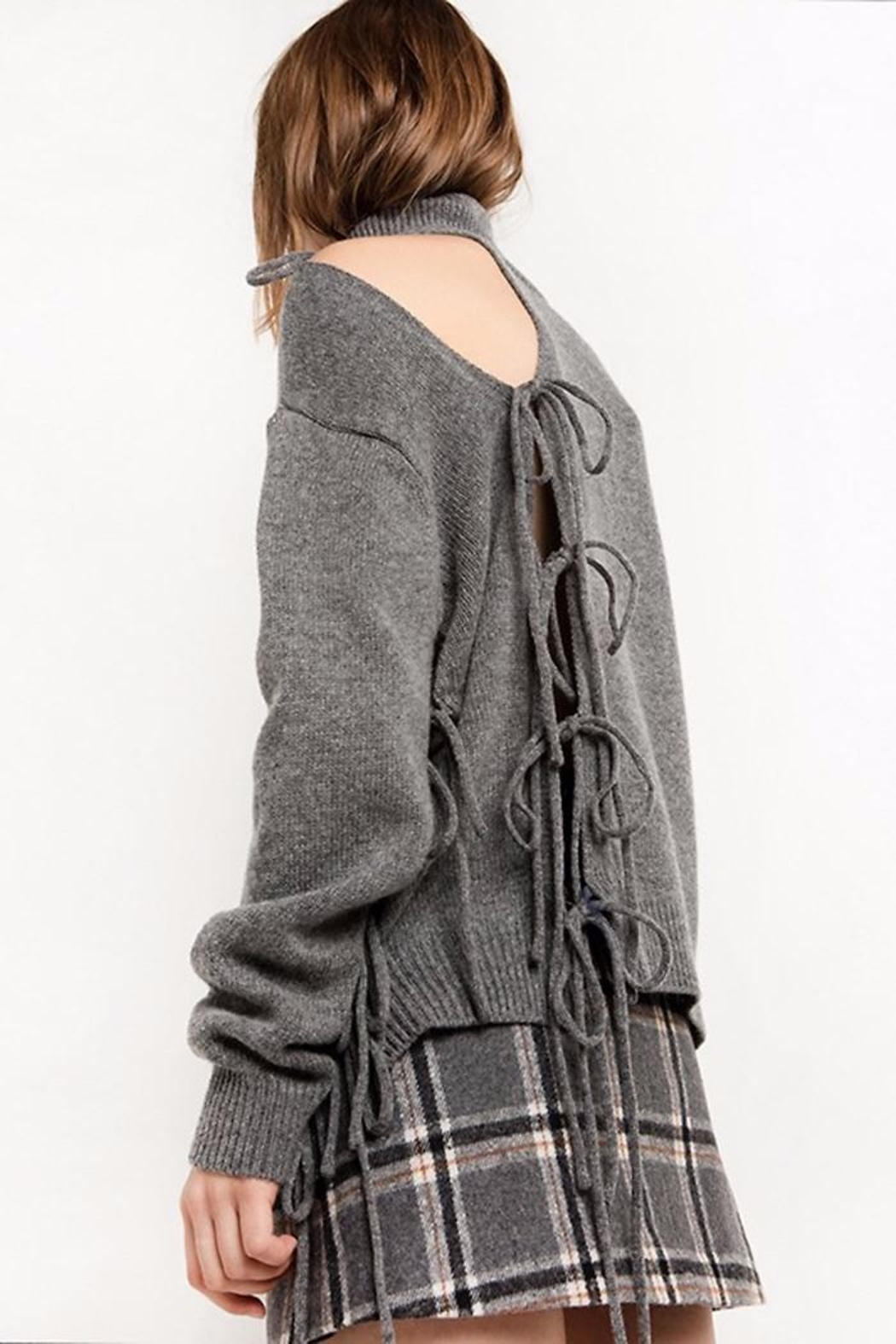 People Outfitter Alice Lace-Up Sweater - Main Image