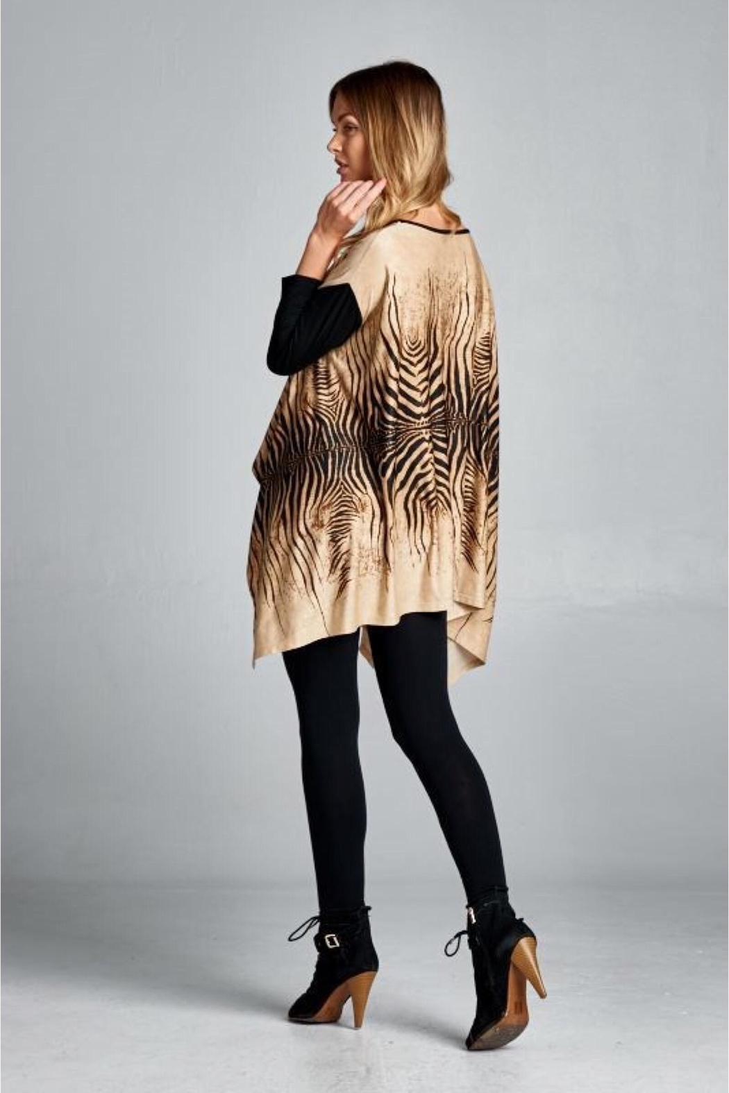 People Outfitter Animal Print Oversized Tunic - Front Full Image
