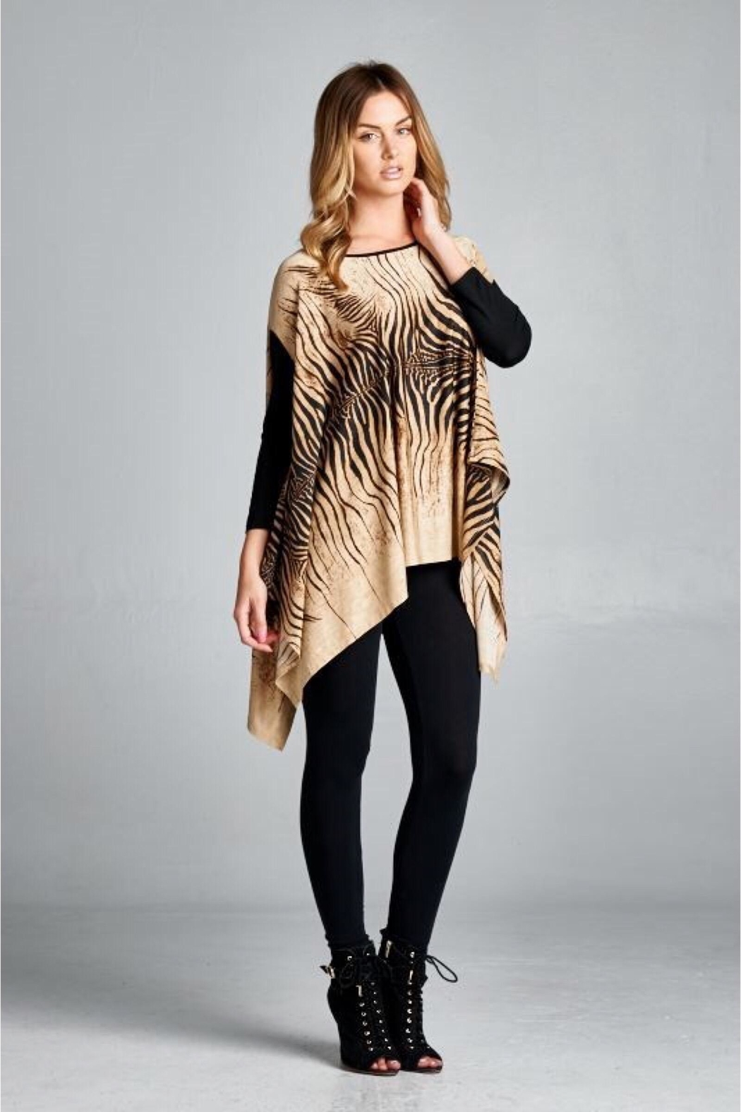 People Outfitter Animal Print Oversized Tunic - Main Image