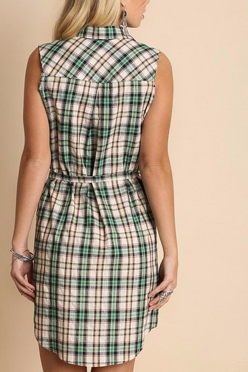 People Outfitter Anytime Plaid Dress - Front Full Image