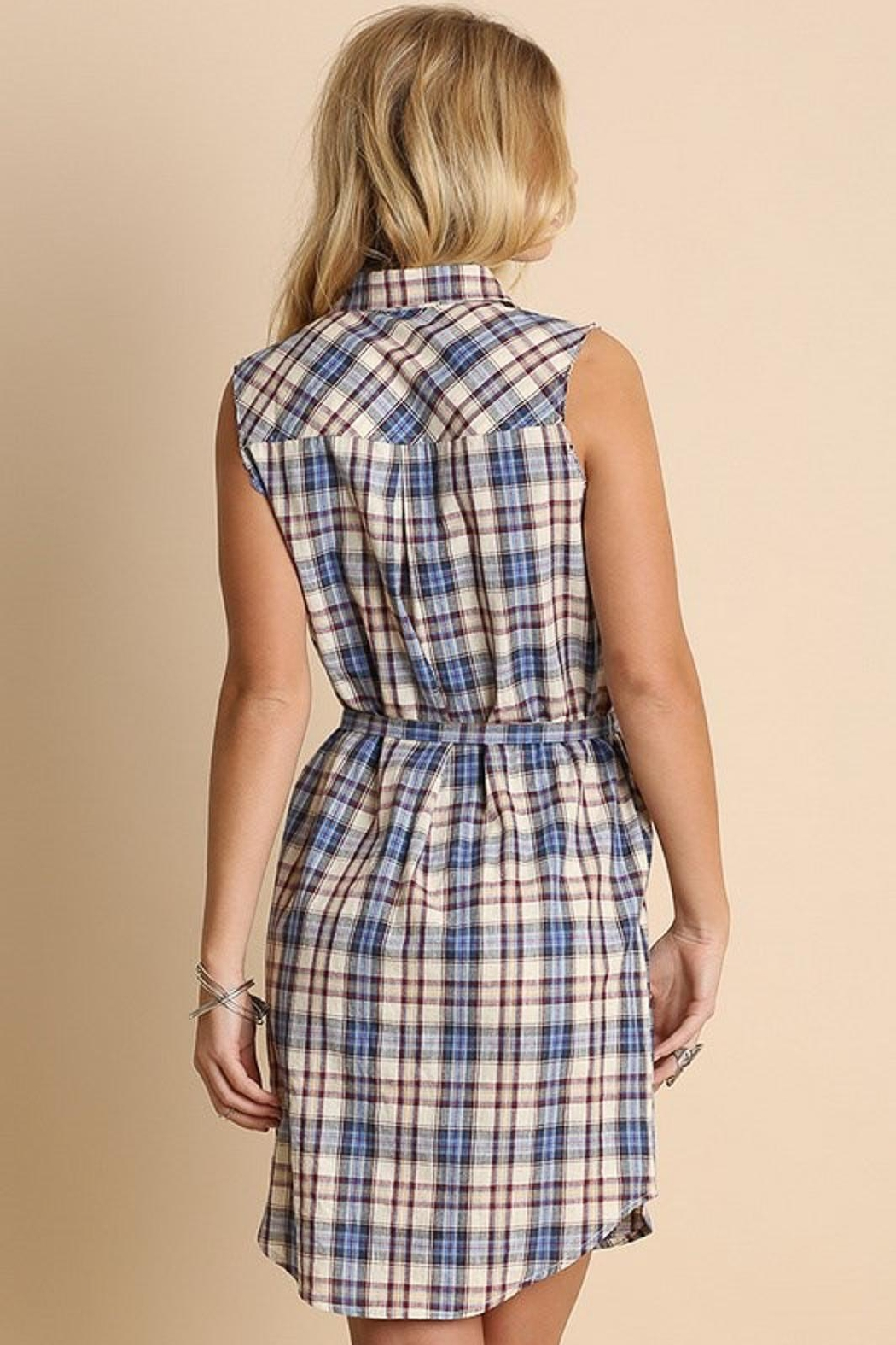 People Outfitter Anytime Plaid Dress - Side Cropped Image