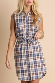 People Outfitter Anytime Plaid Dress - Front cropped