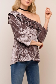 People Outfitter Aristide Velvet Top - Product Mini Image