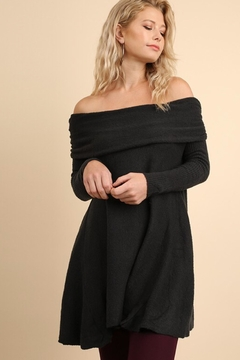 People Outfitter Ash Grey Off Shoulder Sweater Tunic - Product List Image