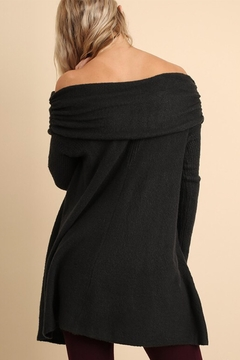 People Outfitter Ash Grey Off Shoulder Sweater Tunic - Alternate List Image
