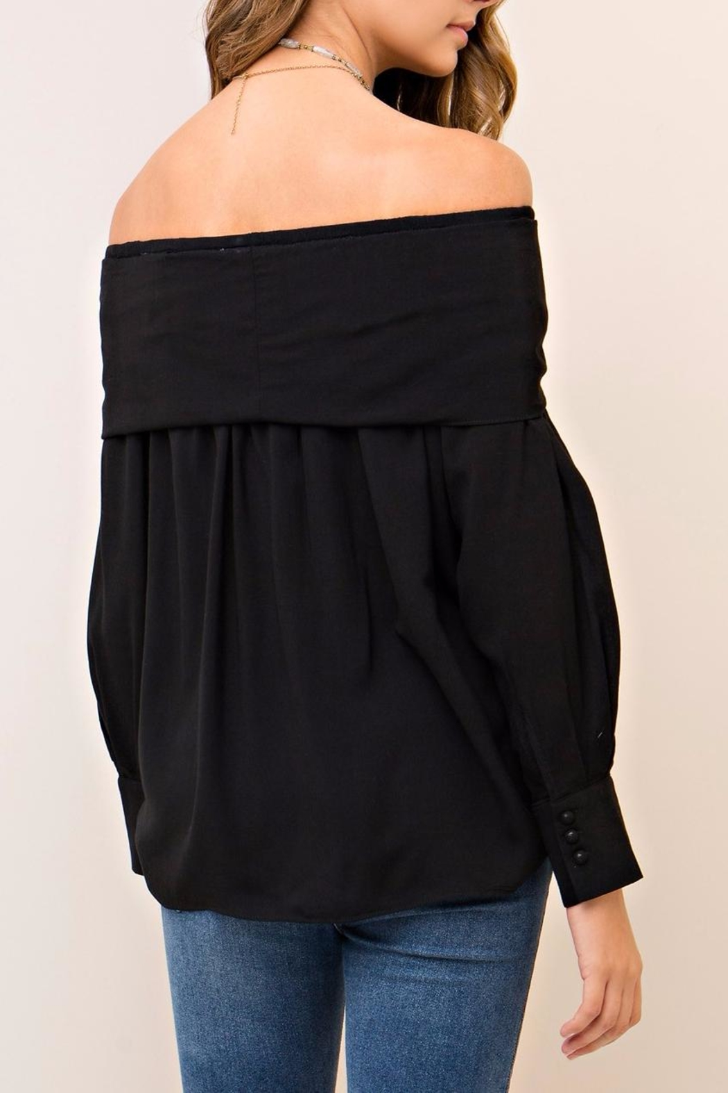 People Outfitter Aston Black Top - Side Cropped Image