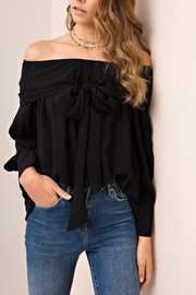 People Outfitter Aston Black Top - Front full body
