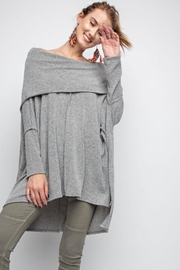 People Outfitter Asymmetrical Tunic Top - Front full body