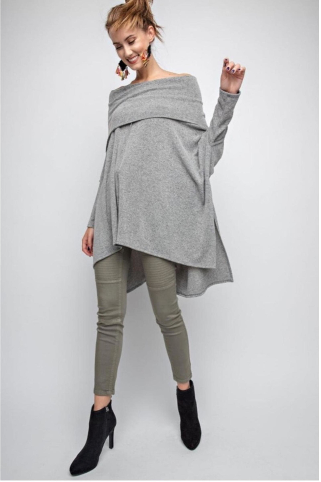 People Outfitter Asymmetrical Tunic Top - Main Image