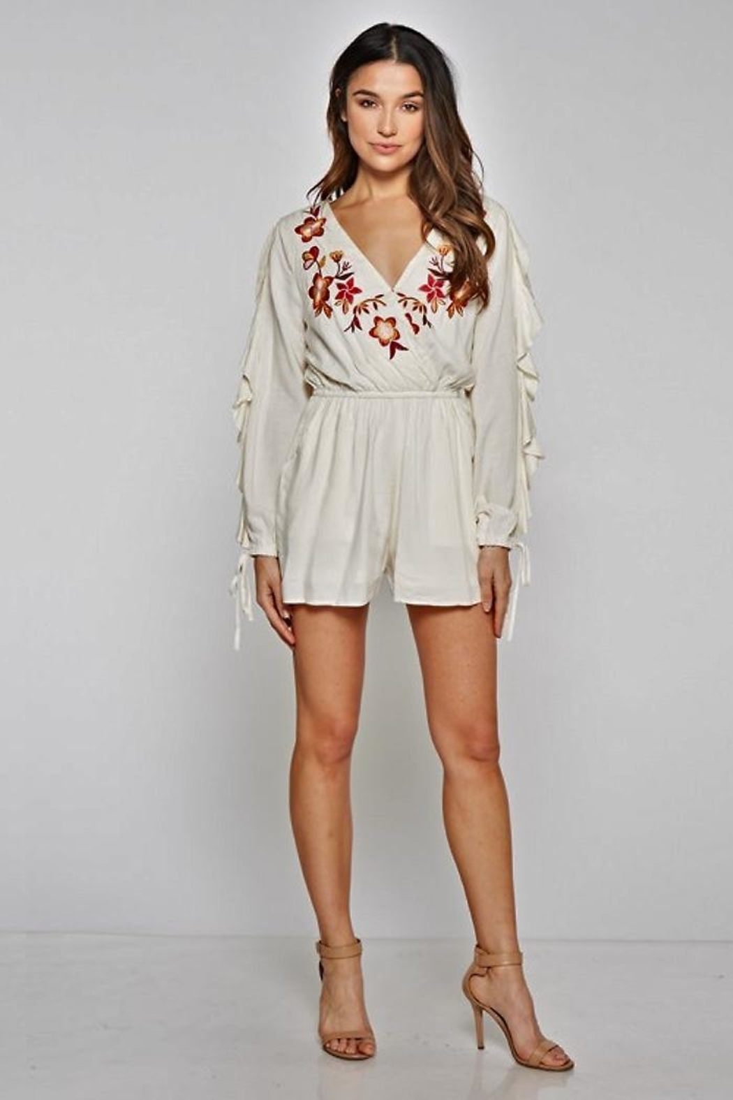 People Outfitter Azalia Romper - Front Cropped Image