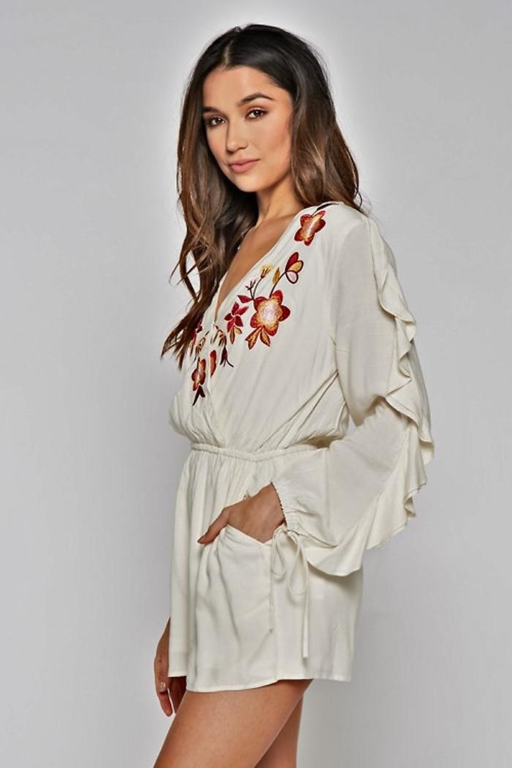 People Outfitter Azalia Romper - Back Cropped Image