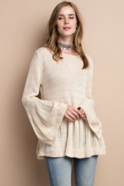 People Outfitter Beige Bell Sleeve Sweater - Product Mini Image
