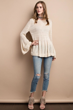 People Outfitter Beige Bell Sleeve Sweater - Alternate List Image