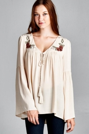 People Outfitter Beige Bell Sleeves Tunic - Product Mini Image