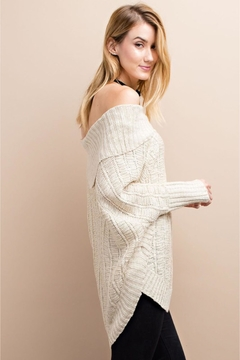 People Outfitter Beige Off Shoulder Sweater - Alternate List Image