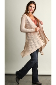 People Outfitter Beige Sweater Knit  Cardigan - Product Mini Image