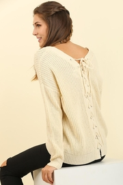 People Outfitter Beige Tie Back Sweater - Product Mini Image