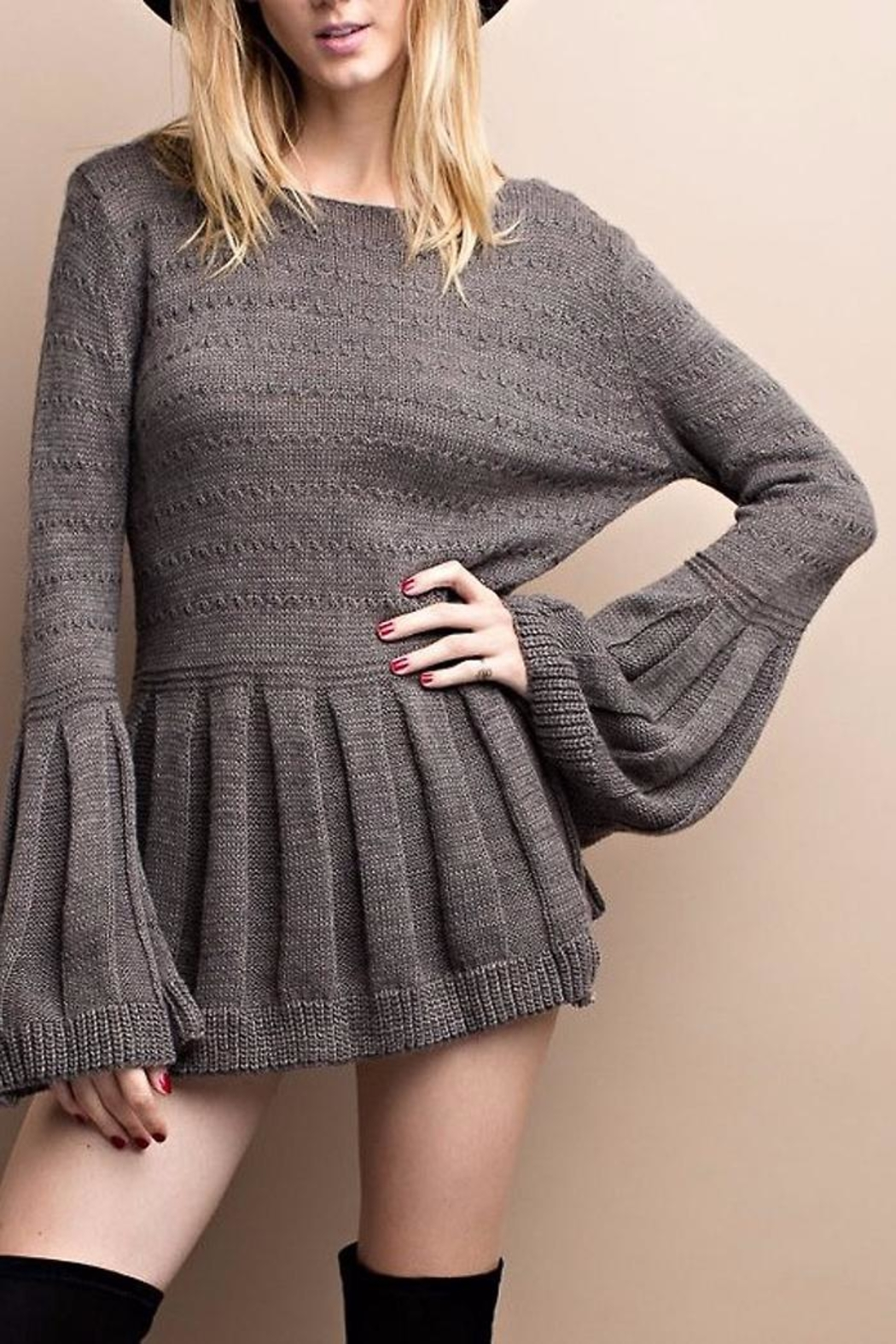 People Outfitter Bell And Sweater - Front Full Image
