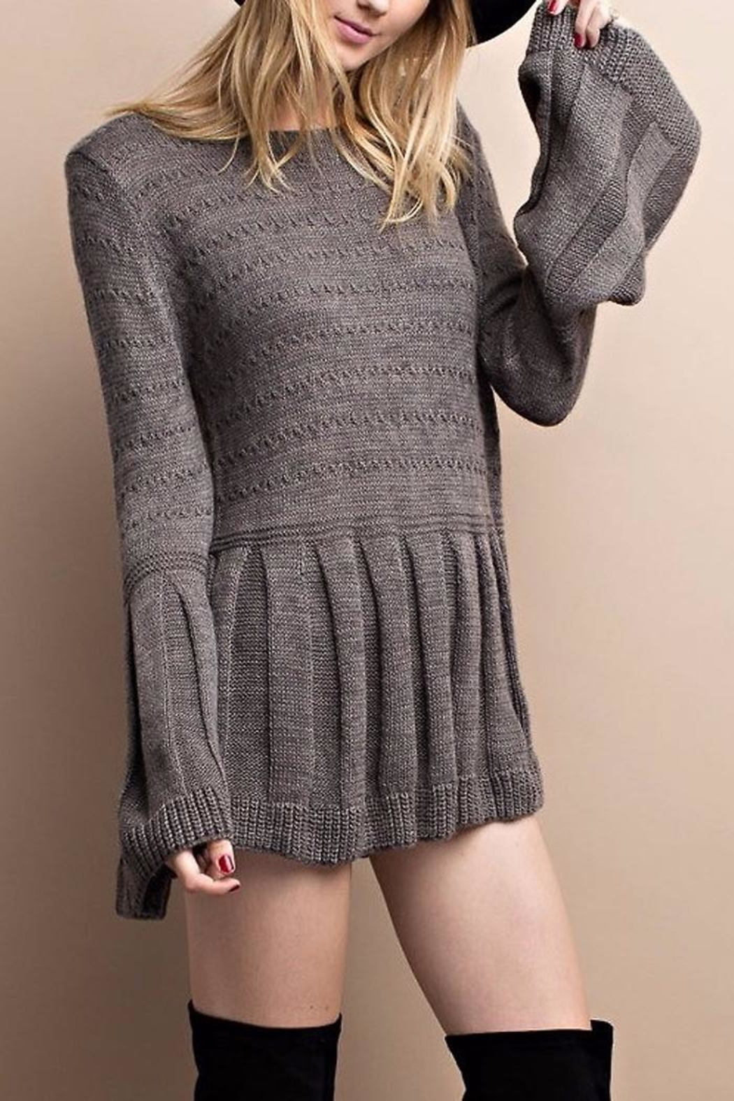 People Outfitter Bell And Sweater - Back Cropped Image