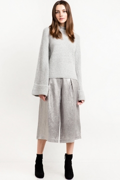 Shoptiques Product: Bell Sleeve Grey Sweater