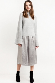 People Outfitter Bell Sleeve Grey Sweater - Product Mini Image
