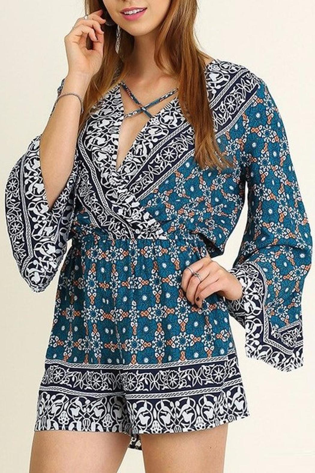 People Outfitter Bell Sleeve Romper - Main Image