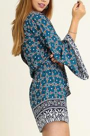People Outfitter Bell Sleeve Romper - Front full body