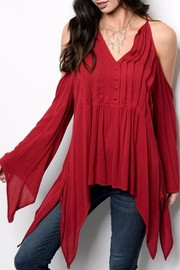 People Outfitter Bell Sleeve Top - Front cropped