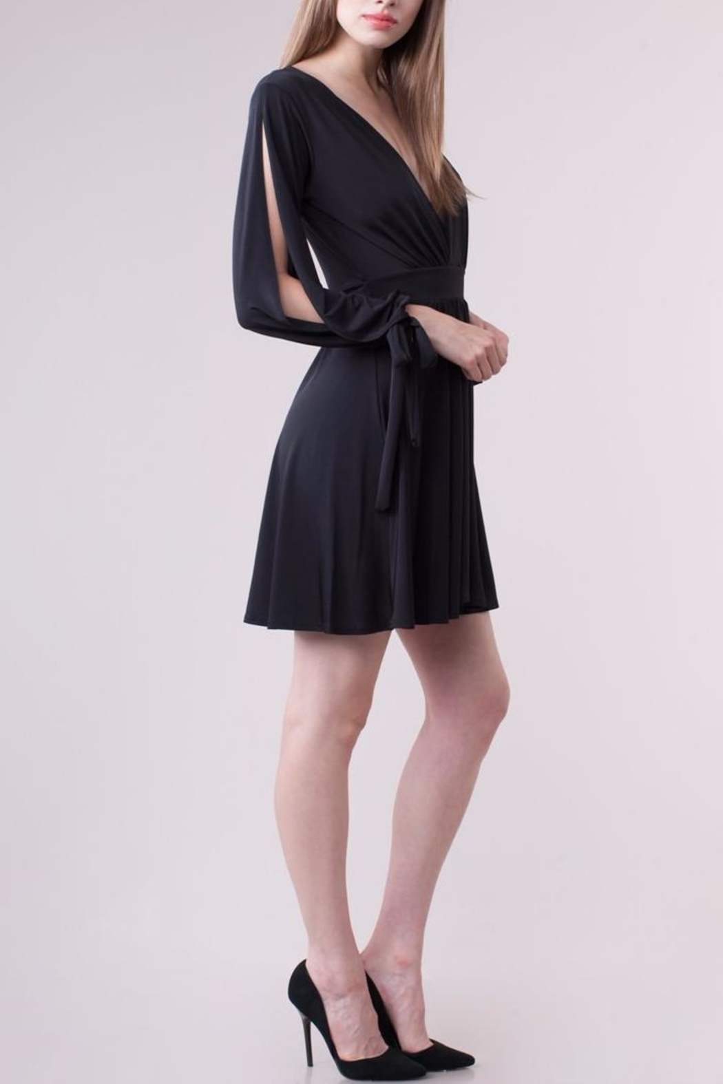 People Outfitter Bennett Black Dress - Side Cropped Image