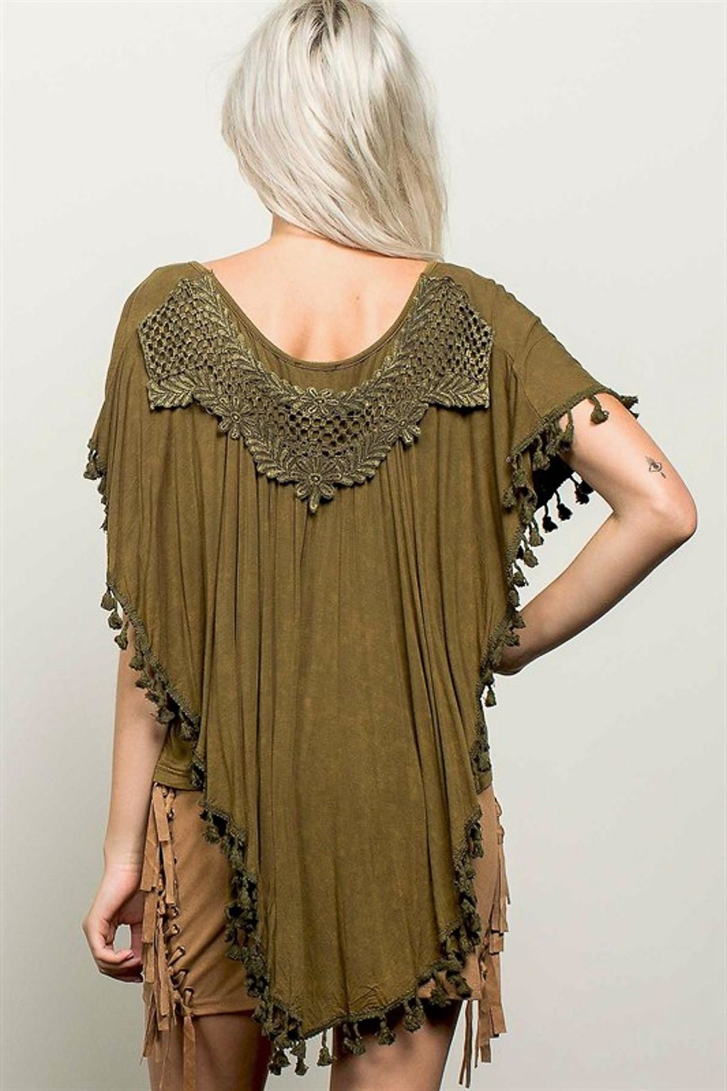 People Outfitter Billie's Olive Top - Front Full Image