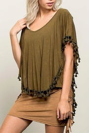 People Outfitter Billie's Olive Top - Front cropped