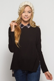 People Outfitter Black And Plaid  Sweatshirt - Product Mini Image