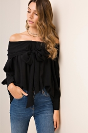 People Outfitter Black Bow Off Shoulder Top - Product Mini Image