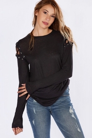 People Outfitter Black Crisscross Top - Product Mini Image
