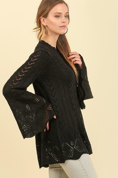 People Outfitter Black Crochet Bell Sleeves Sweater - Product List Image
