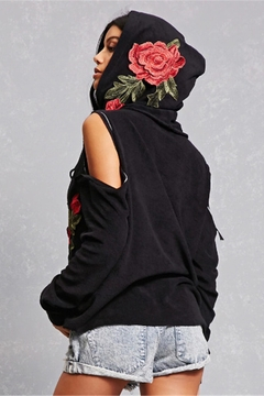 People Outfitter Black Cut Out Sweatshirt - Alternate List Image
