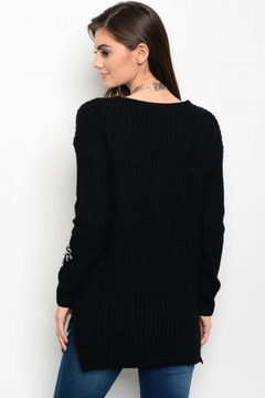 People Outfitter Black Embellished Sweater - Alternate List Image