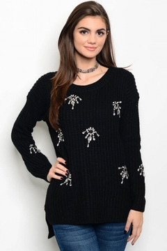 People Outfitter Black Embellished Sweater - Product List Image
