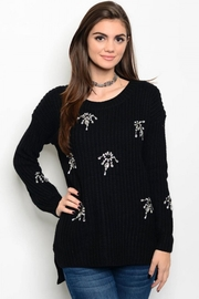 People Outfitter Black Embellished Sweater - Product Mini Image