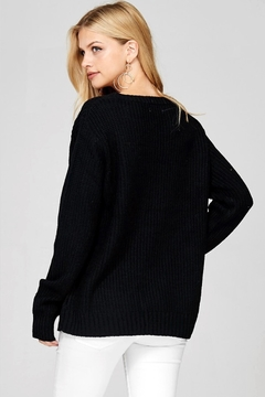 People Outfitter Black Embroidery Sweater - Alternate List Image