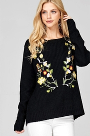 People Outfitter Black Embroidery Sweater - Product Mini Image
