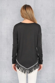 People Outfitter Black Fringe Hem Sweater - Side cropped