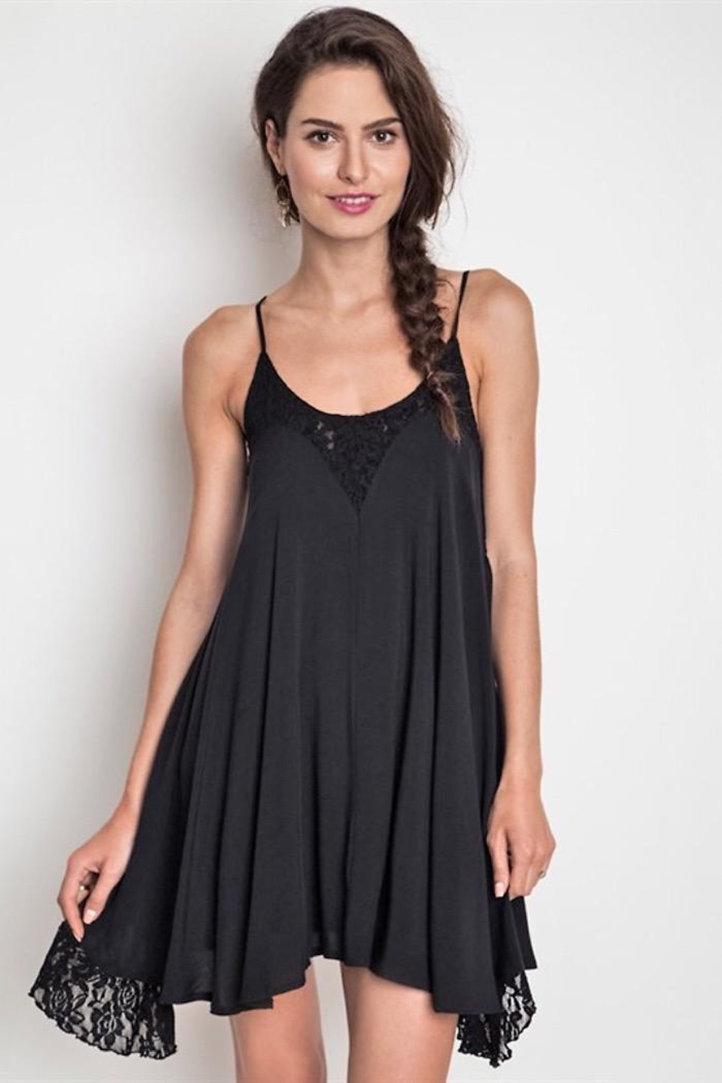 People Outfitter Black Lace Dress - Main Image