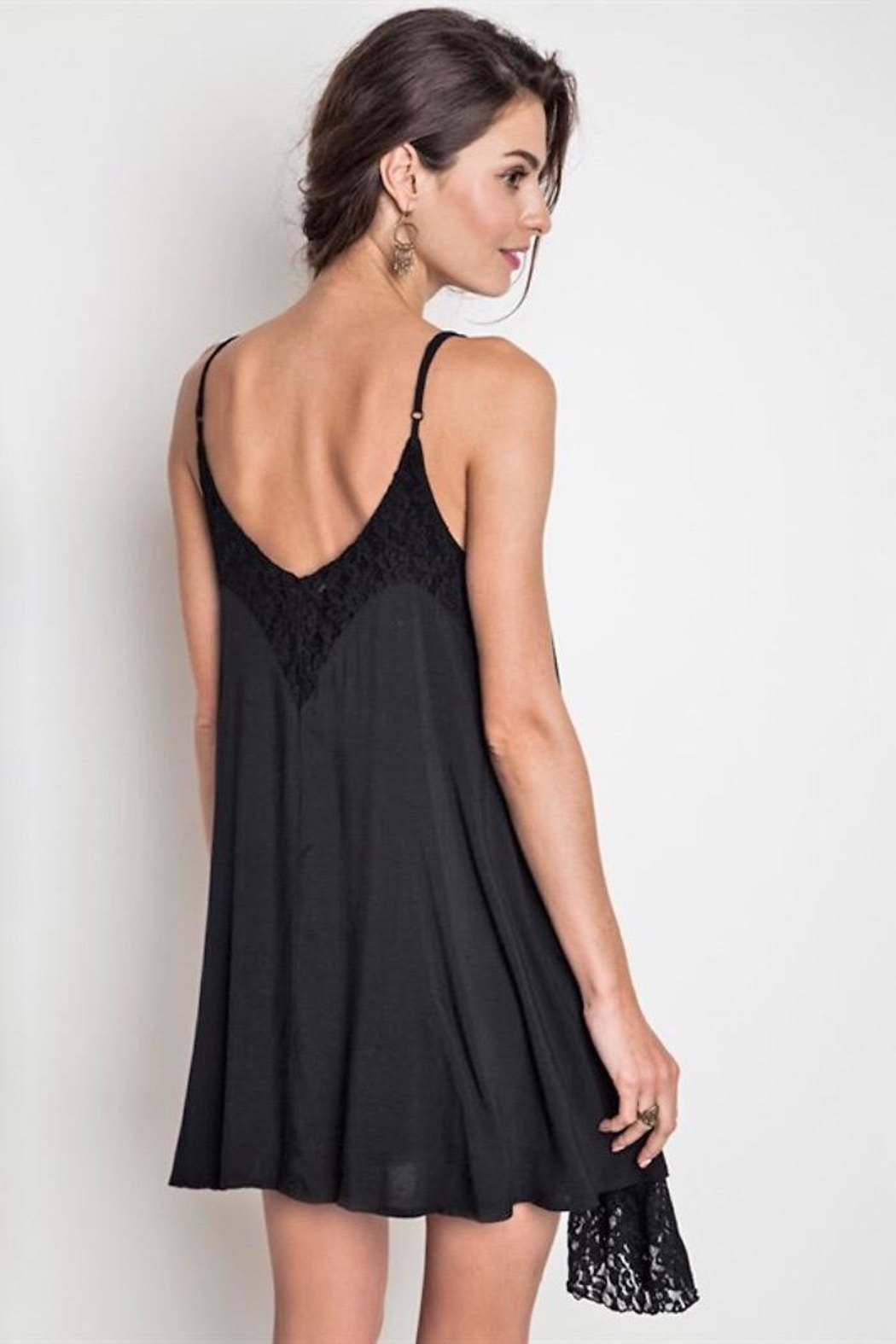 People Outfitter Black Lace Dress - Side Cropped Image