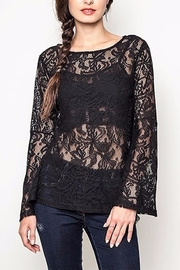 People Outfitter Black Lace Top - Front full body